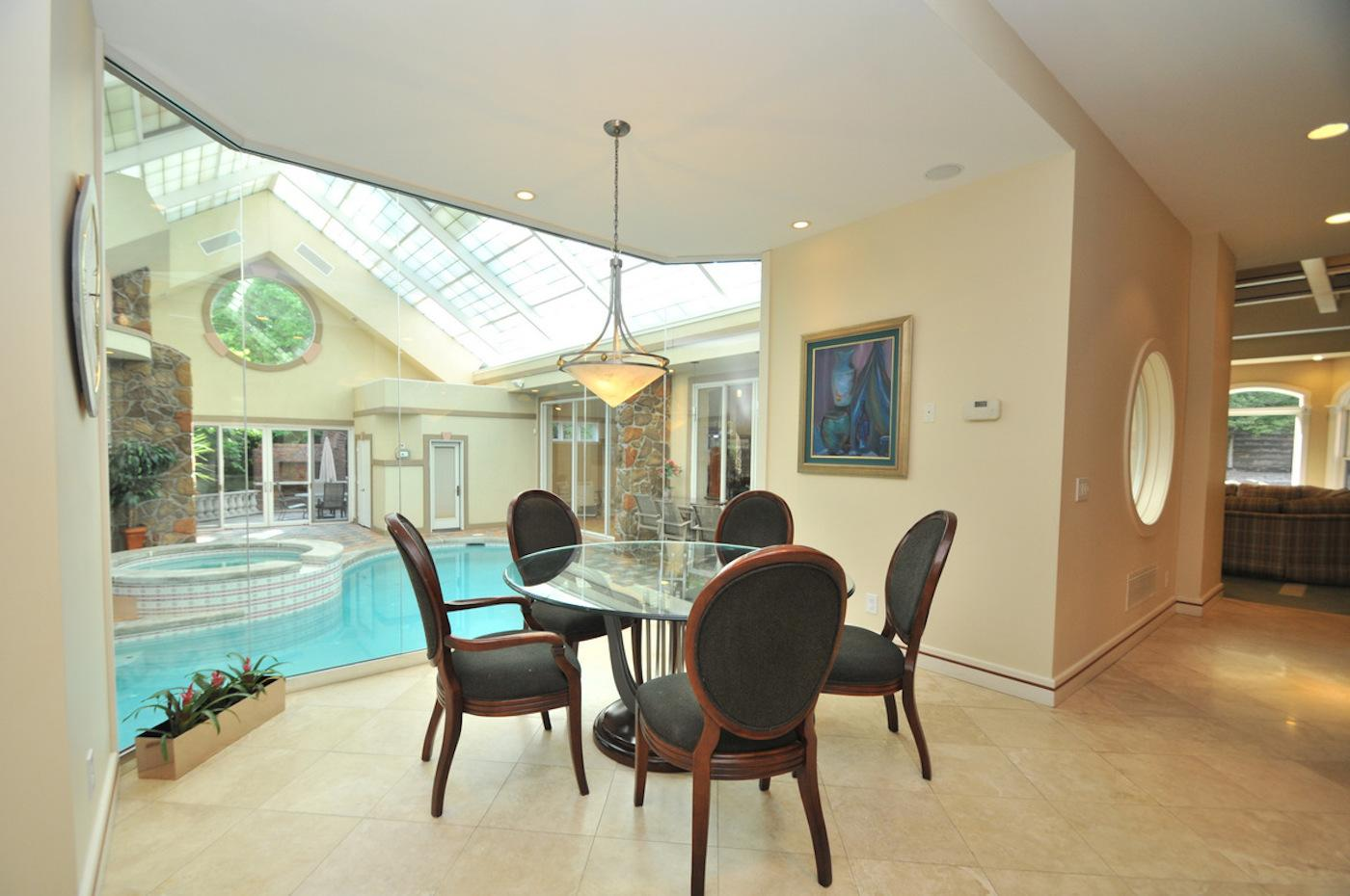 Indoor pool keller  This White Oak Home Has The Indoor Pool Of Your Dreams ...