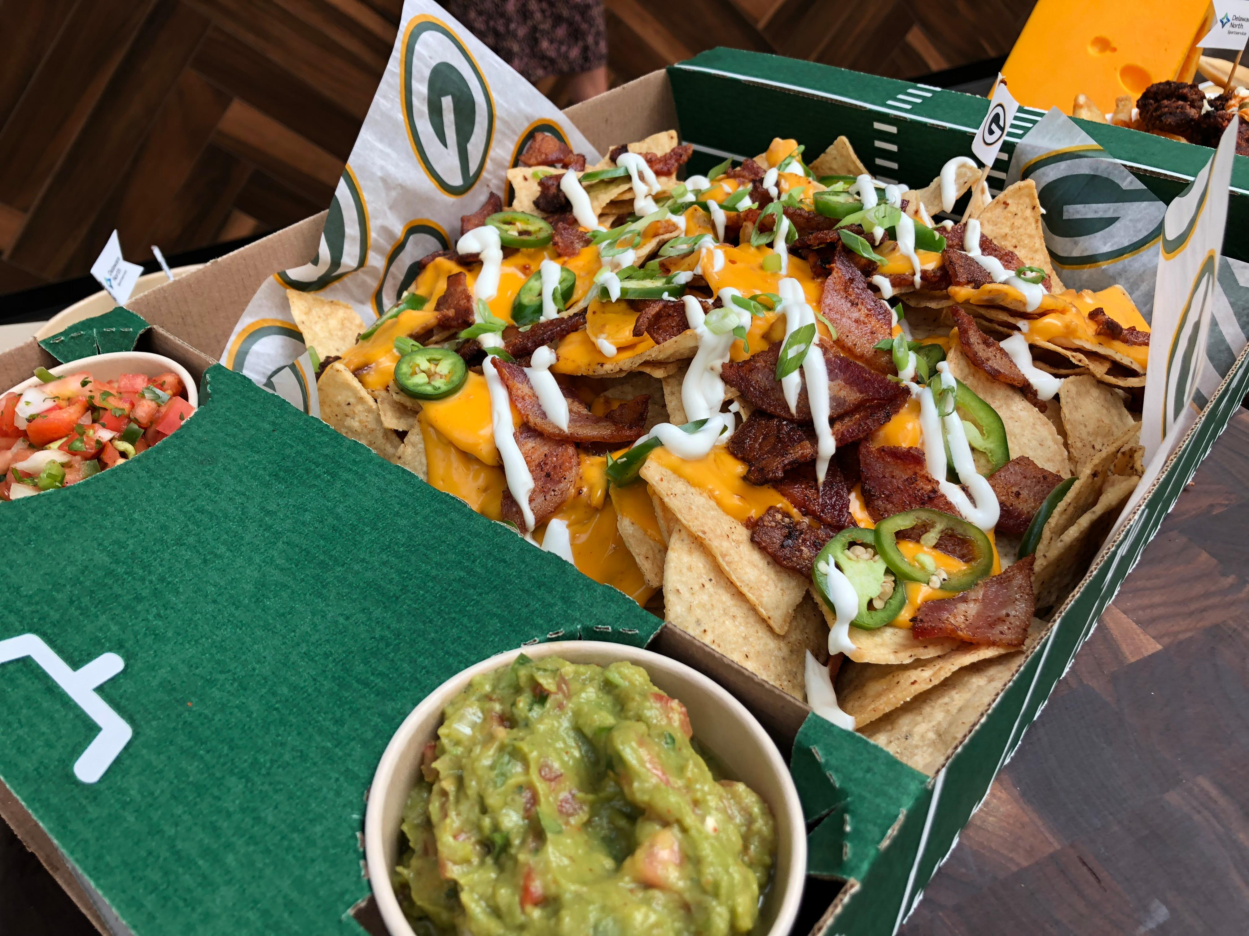 Bacon Nachos are part of the Packers game day menu, September 10, 2019 (WLUK/Eric Peterson)