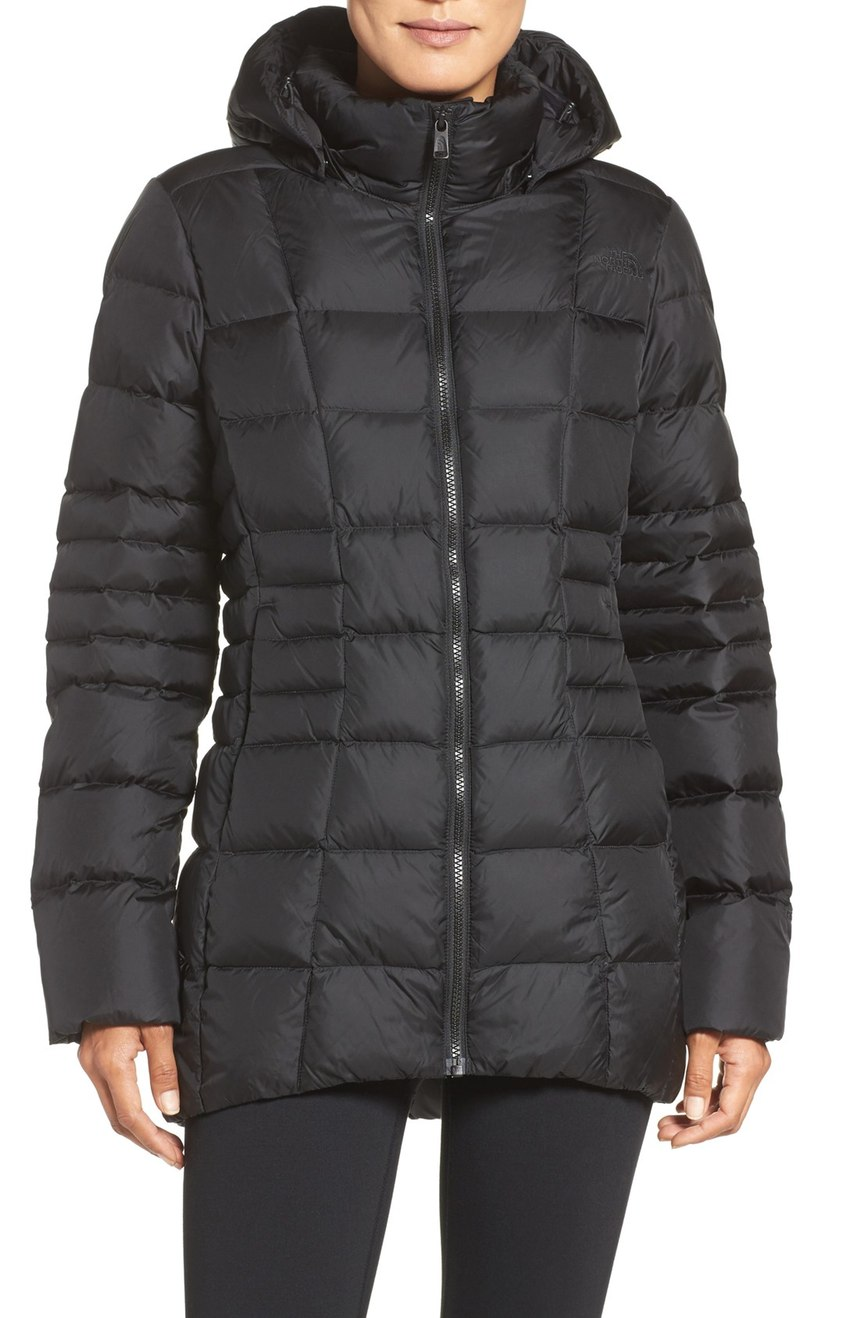 This black puffer coat is the perfect length to flatter multiple body types.   Plus it's super cozy and will keep you dry.   When temperatures drop, it doesn't mean your outfit has  to be all doom and gloom like the weather.  You can still look effortless in the rain! From high-fashion puffers to cozy parkas and knee high (high fashion) waterproof boots, these are the styles to invest in NOW.  (Image: Nordstrom)