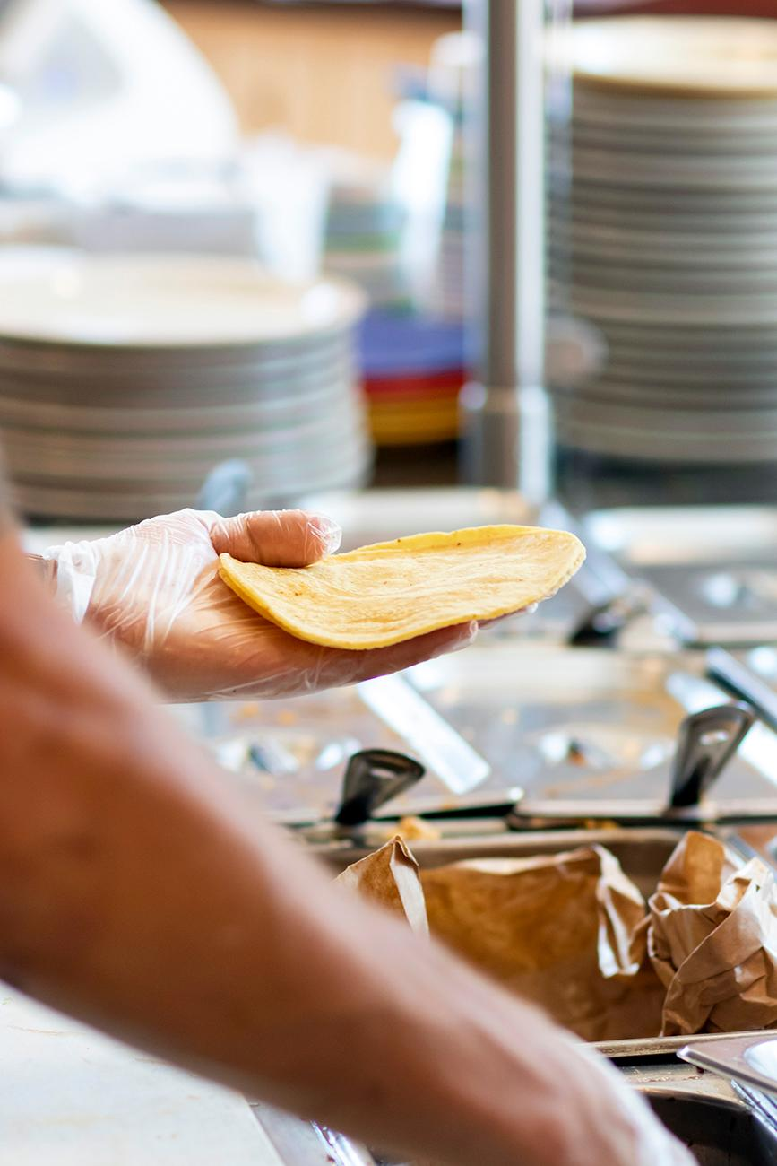 "<p>Tortilleria translates to ""tortilla shop"" in Spanish, which is fitting because freshly ground corn tortillas are made there daily. / Image: Allison McAdams // Published: 8.20.19</p>"