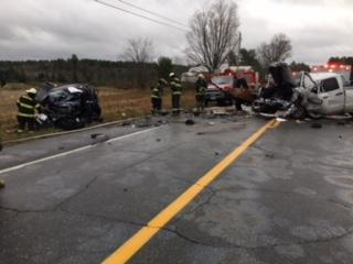 Deputies says a man was killed in a head-on crash in Norridgewock on Monday. (Somerset County Sheriff's Office)