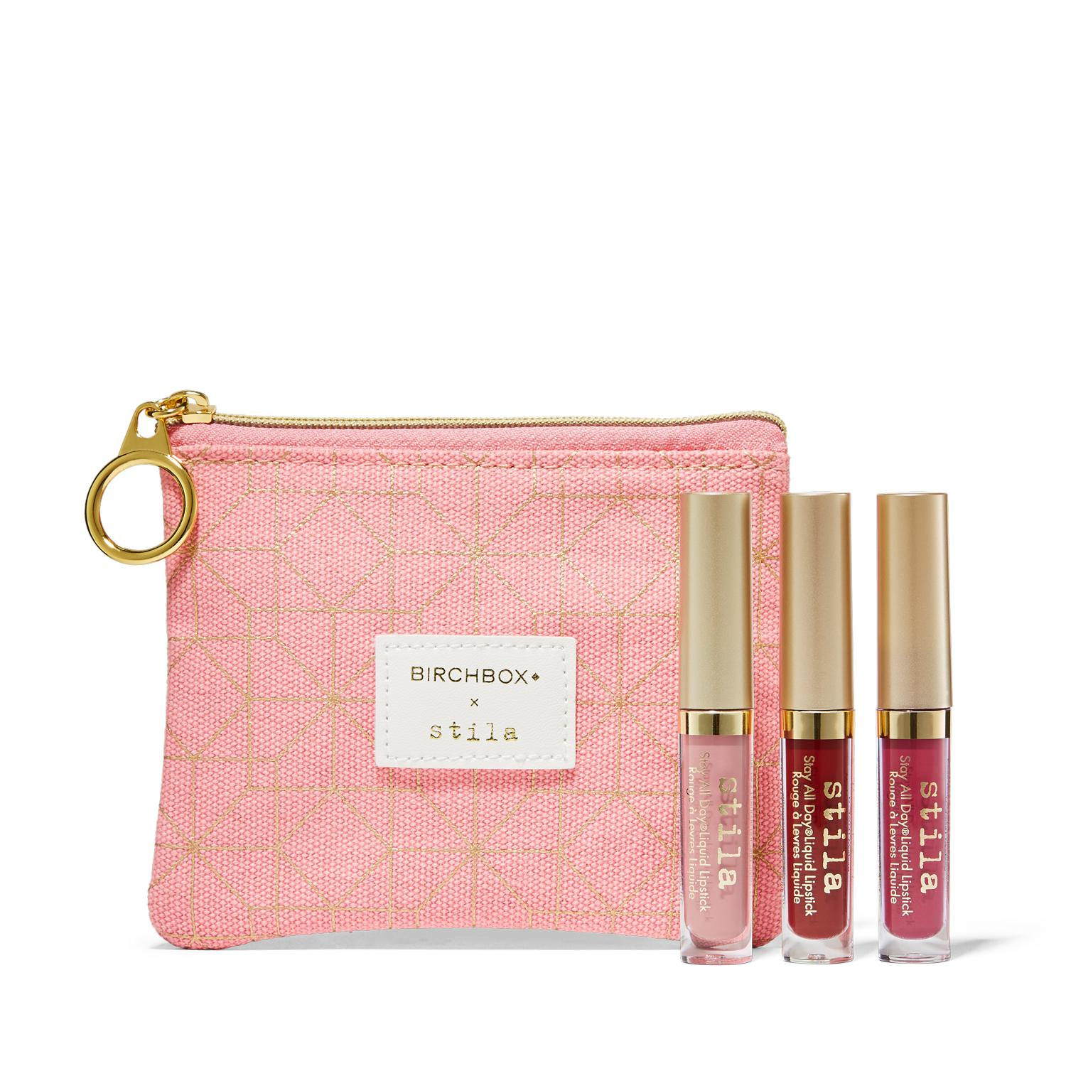 Stila Cosmetics The Perfect Kiss Stay All Day Liquid Lipstick Trio from Birchbox // Price: $18 // (Image: Birchbox)