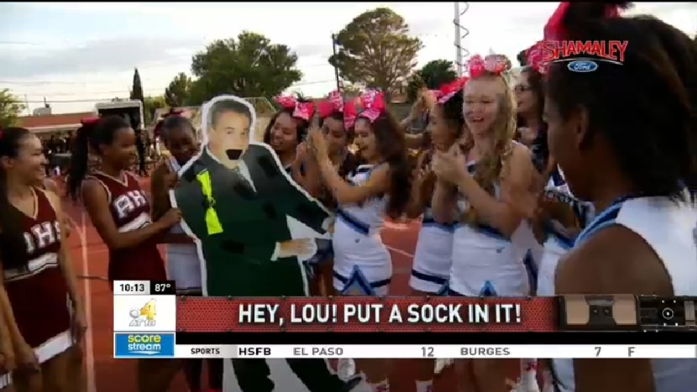 Put a Sock in it Lou! Chapin vs Andress cheerleaders