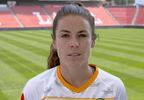 Kelley O'Hara utah royals soccer lead together utah jazz.JPG