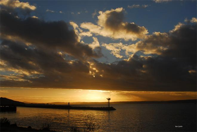 Sunset at Shilshole -- Ken Sjodin