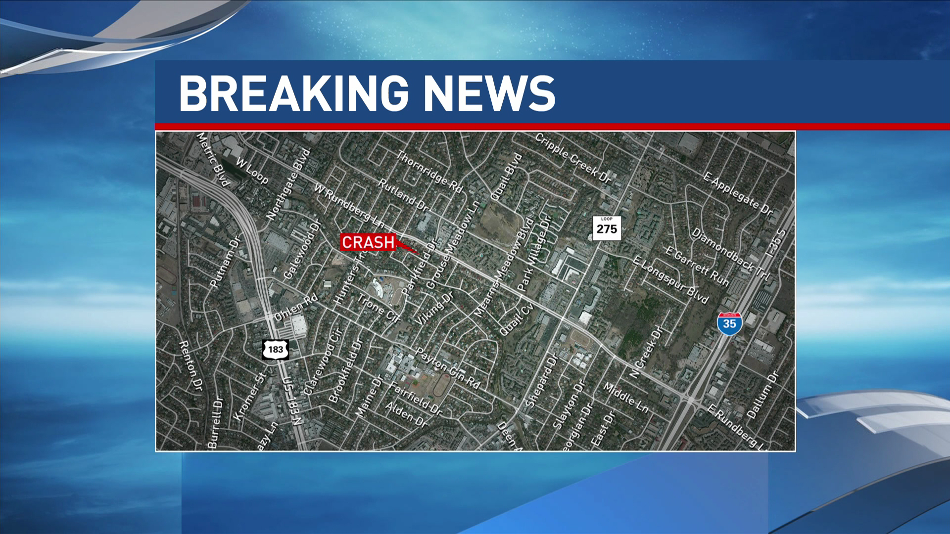 A pedestrian was killed Tuesday evening in North Austin after being hit by a vehicle, EMS officials say. (CBS Austin)