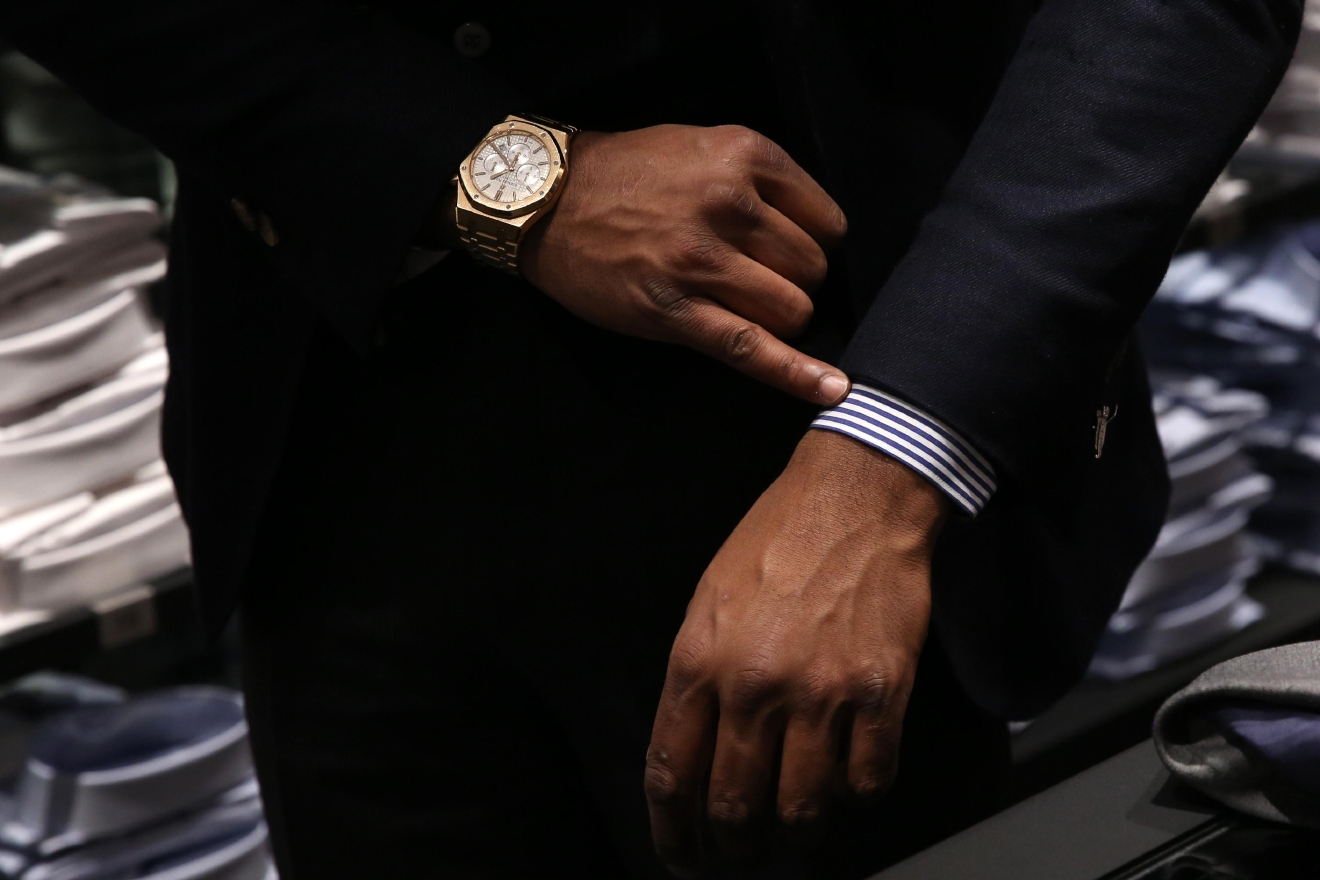 If you are wearing a jacket, the sleeve of your shirt should come out an inch below your jacket and touch where your wrist becomes your thumb. (Amanda Andrade-Rhoades/ DC Refined)