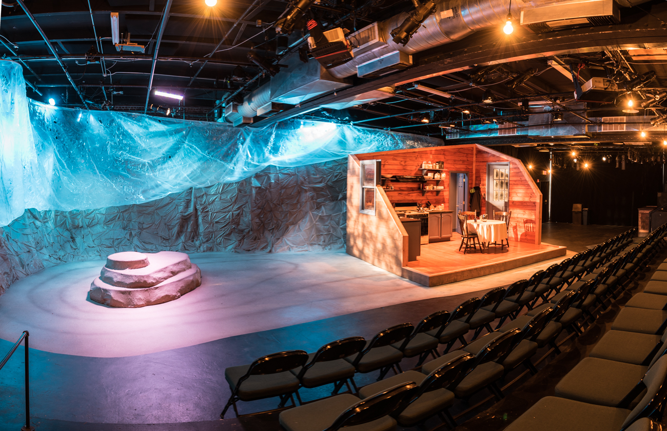 The theatre itself is intimate and professionally lit. The crew builds incredible sets of varying complexity depending on the show. 'Dragon Play' is the show that's currently playing. / Image: Phil Armstrong, Cincinnati Refined // Published: 2.6.17