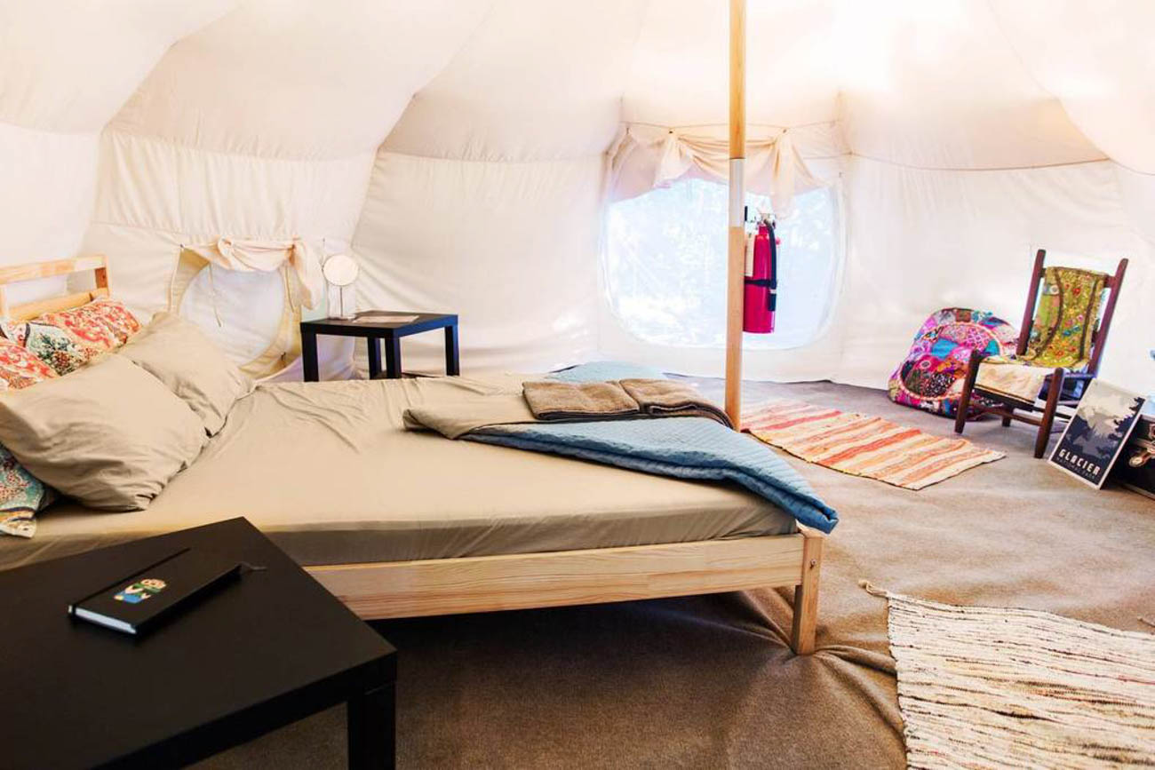 The Eco Camp in Swanton has enchanting yurts within the surrounding forest. Each yurt has a queen-sized bed, carpeting, heating, and access to a shared lounge space with an outdoor fire pit, cooking stoves, and a kitchen in a renovated Airstream. The entire camp—which you and 23 of your closest friends can rent if one yurt just won't do—runs on solar power and aims for sustainability in everything they do. It's also dog-friendly, so your pup can enjoy your weekend escape, too. One yurt sleeps four guests and comes with 1 bedroom and 1 bath and takes less than three and a half hours to get there from Cincinnati. / Image courtesy of The Eco Camp // Published: 5.21.19