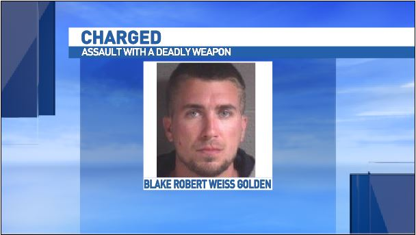 Police say the suspect, Blake Robert Weiss Golden, is in custody at this time. Golden is charged with assault with a deadly weapon with the intent to kill. (Photo Credit: VINELink.com)