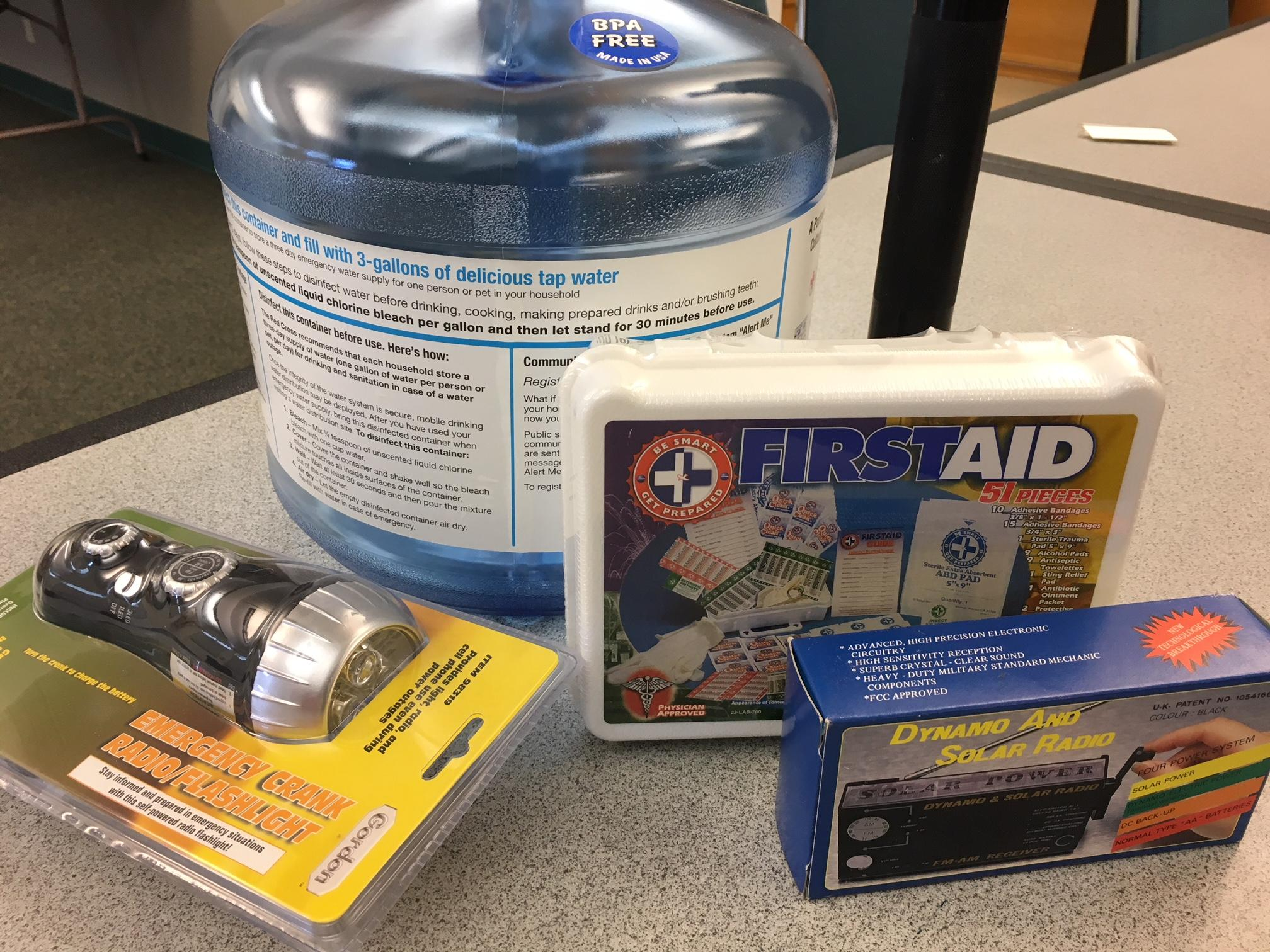 In case you lose power, residents should have at least three gallons of water per person in your home. She also asks that you have a first aid kit, a flashlight - and some patience. (SBG)
