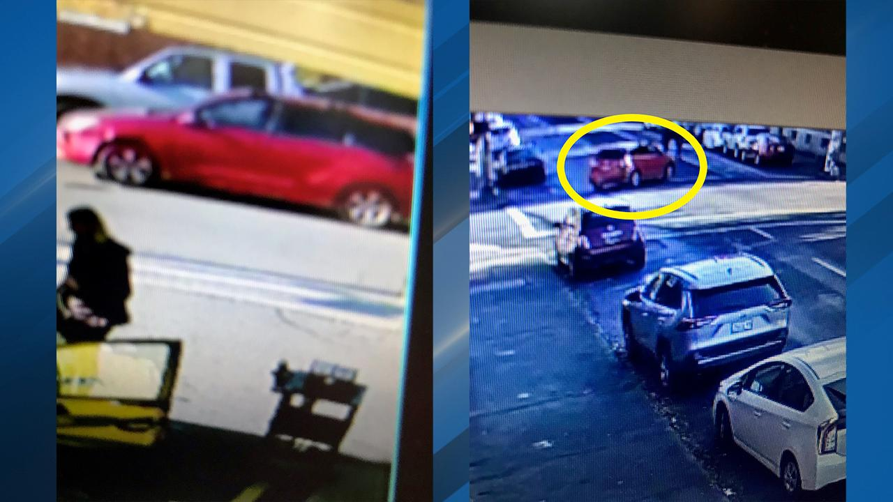 Portland Police Bureau is searching for the driver who struck and injured a woman and her dog near Southeast Belmont Street and 20th Avenue on Dec. 2, 2019. If you recognize the red minivan in this photo, contact police. Photo courtesy Portland Police Bureau{ }