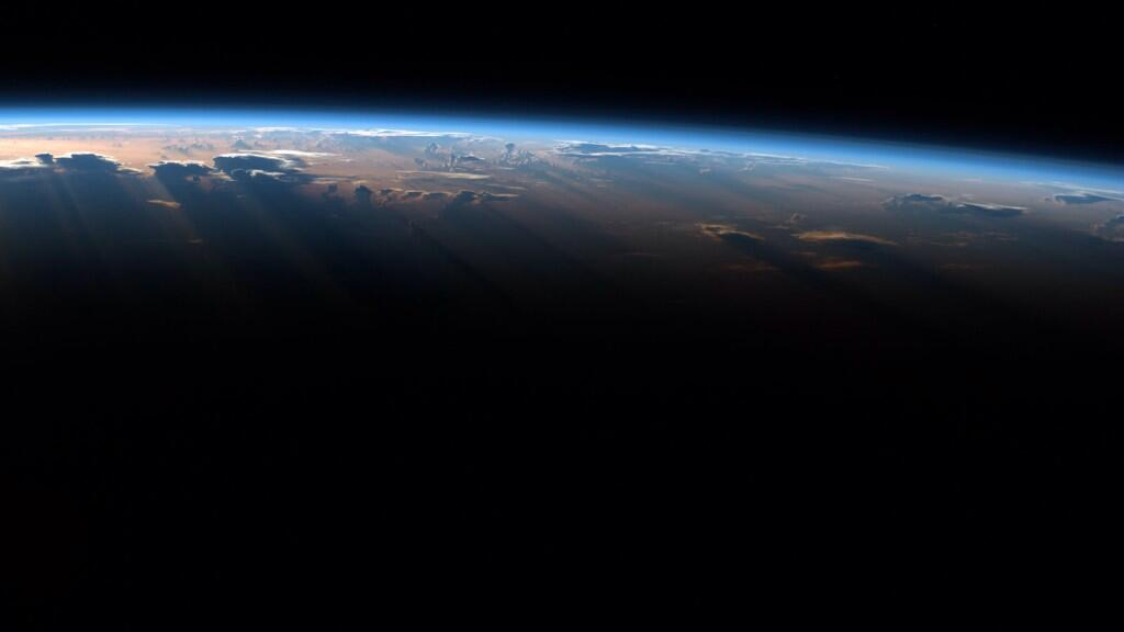 Morning sun casts long shadows. I bet the view is equally stunning looking up from below. (Photo & Caption: Reid Wiseman, NASA)