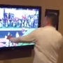 VIDEO: Distraught Bama fan punches TV after Tigers' final second TD