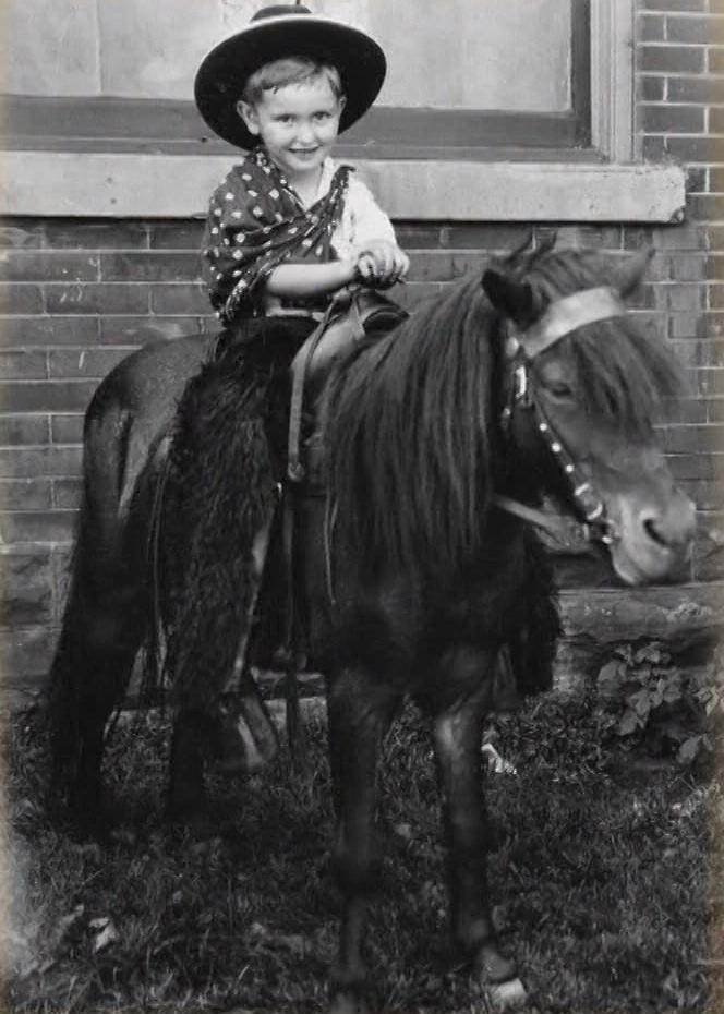 Young Tommy S. Monson riding his pony. (Photo: MormonNewsroom.org)<p></p>
