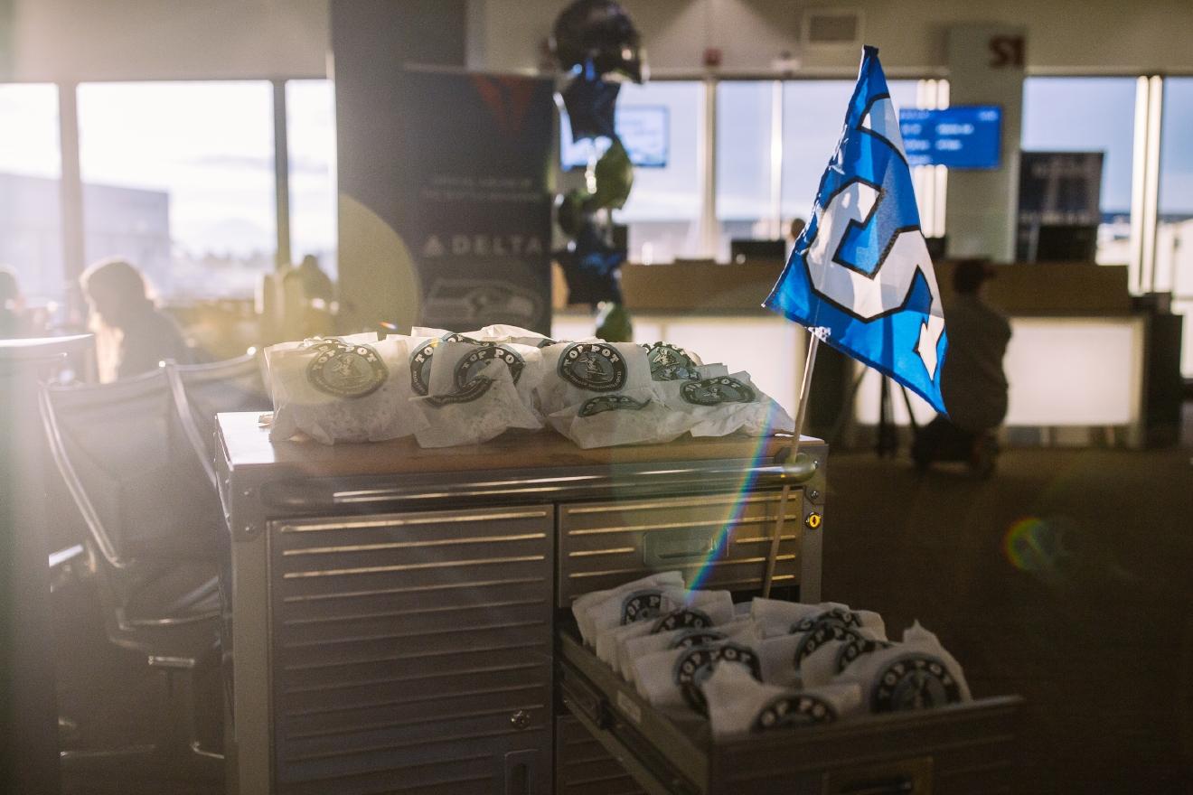 Photos: Alaska Airlines, Delta battle it out for best Seahawks ...