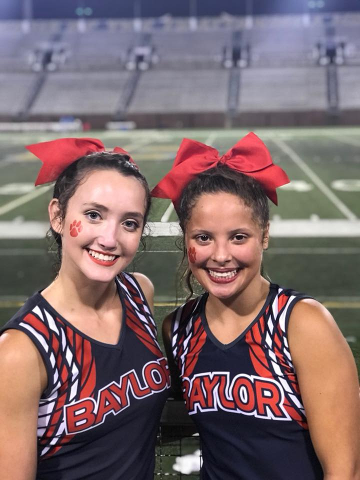 Baylor School cheerleaders{ }Melanie Kral and Lucy Mejia (Image: The Baylor School)