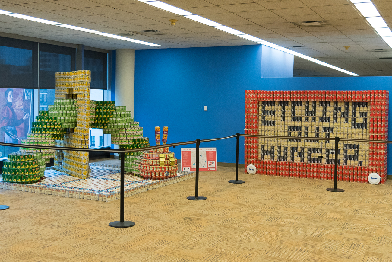 Canstruction Cincinnati challenges architects, engineers, contractors, and others to design sculptures made entirely from canned foods. The competition is held and displayed from April 10th to the 29th at several Downtown locations. The food used to make the sculptures is donated to a local food bank afterward. / Image: Phil Armstrong, Cincinnati Refined // Published: 4.16.18