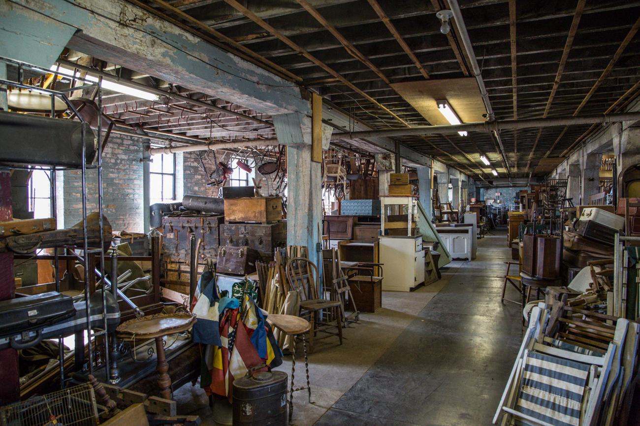 The Antiques Warehouse is an appointment-only, 40,000 square foot repository for antique and vintage items. The warehouse gained national attention when the History Channel's hit TV show 'American Pickers' traveled to Cincinnati to sort through The Antique Warehouse's offerings in 2014. / Image: Catherine Viox // Published: 6.5.17