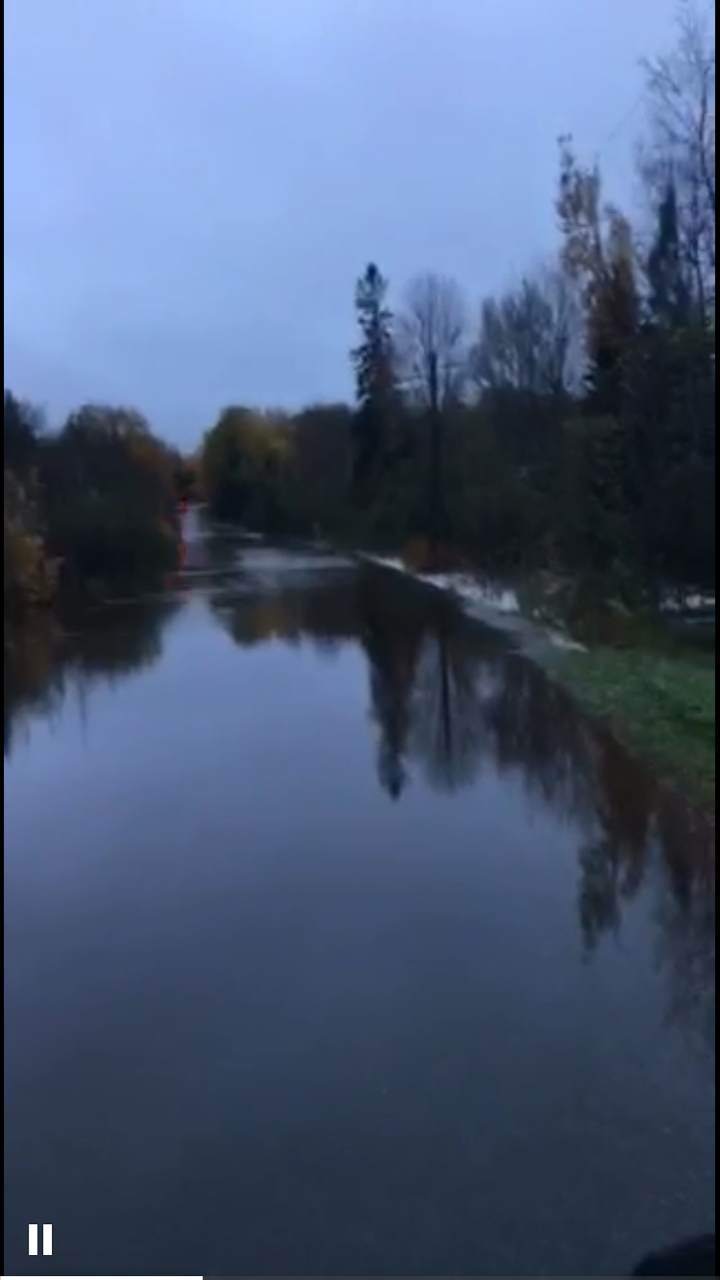 Flooding in Chocolay area of Marquette Co. MI 10/18/16 (Courtesy: FOX 11)