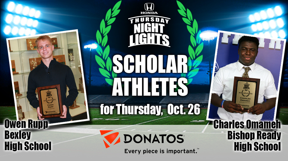 Congrats to the Donatos Scholar Athletes Owen Rupp and Charles Omameh!