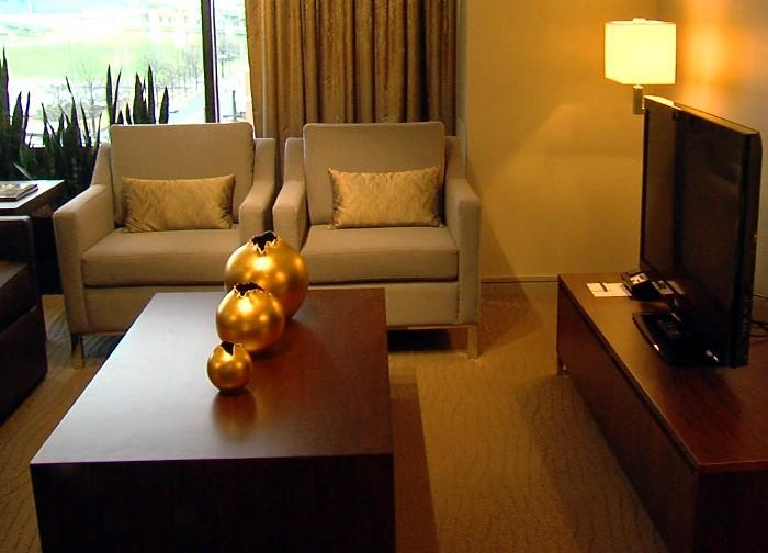 Inside a suite at the new Westin Hotel in downtown Birmingham, Alabama.