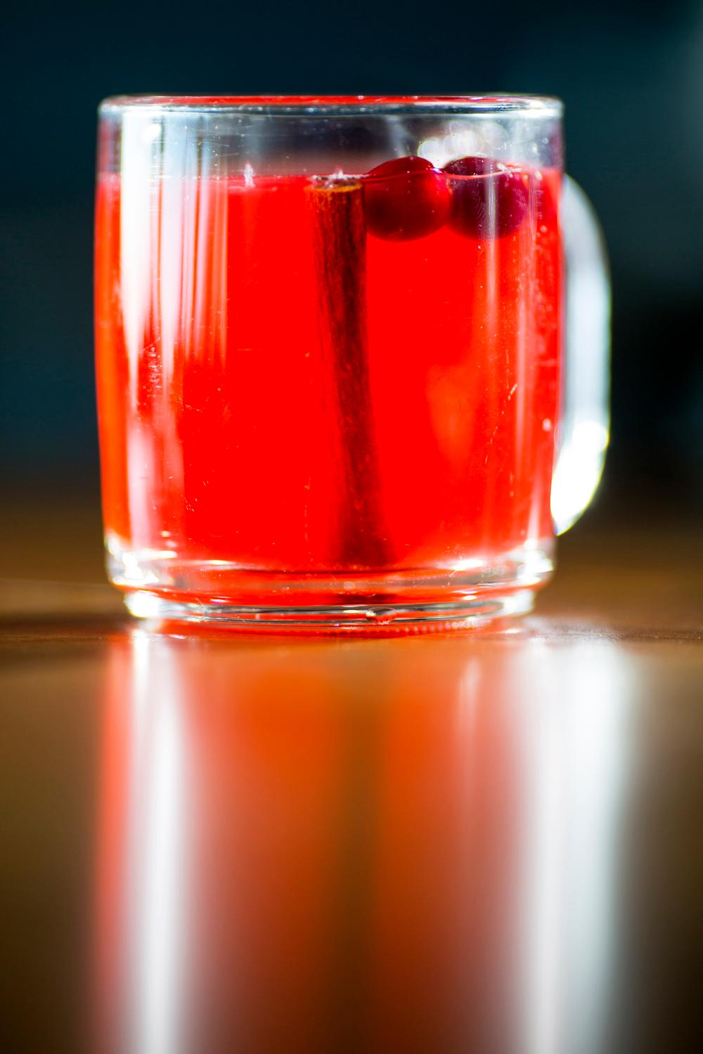 The Cran-Apple hot toddy features the organic cranberries from the local farm at the Salt Hotel and Pub, located at 147 Howerton Ave, Ilwaco, WA. (Sy Bean / Seattle Refined)(Sy Bean / Seattle Refined)
