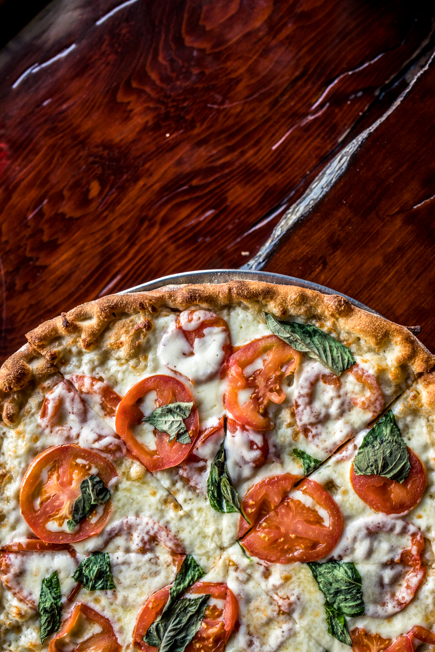 Margherita Pizza: garlic and olive oil base, sliced tomato, fresh mozzarella, and fresh basil / Image: Catherine Viox // Published: 2.3.20