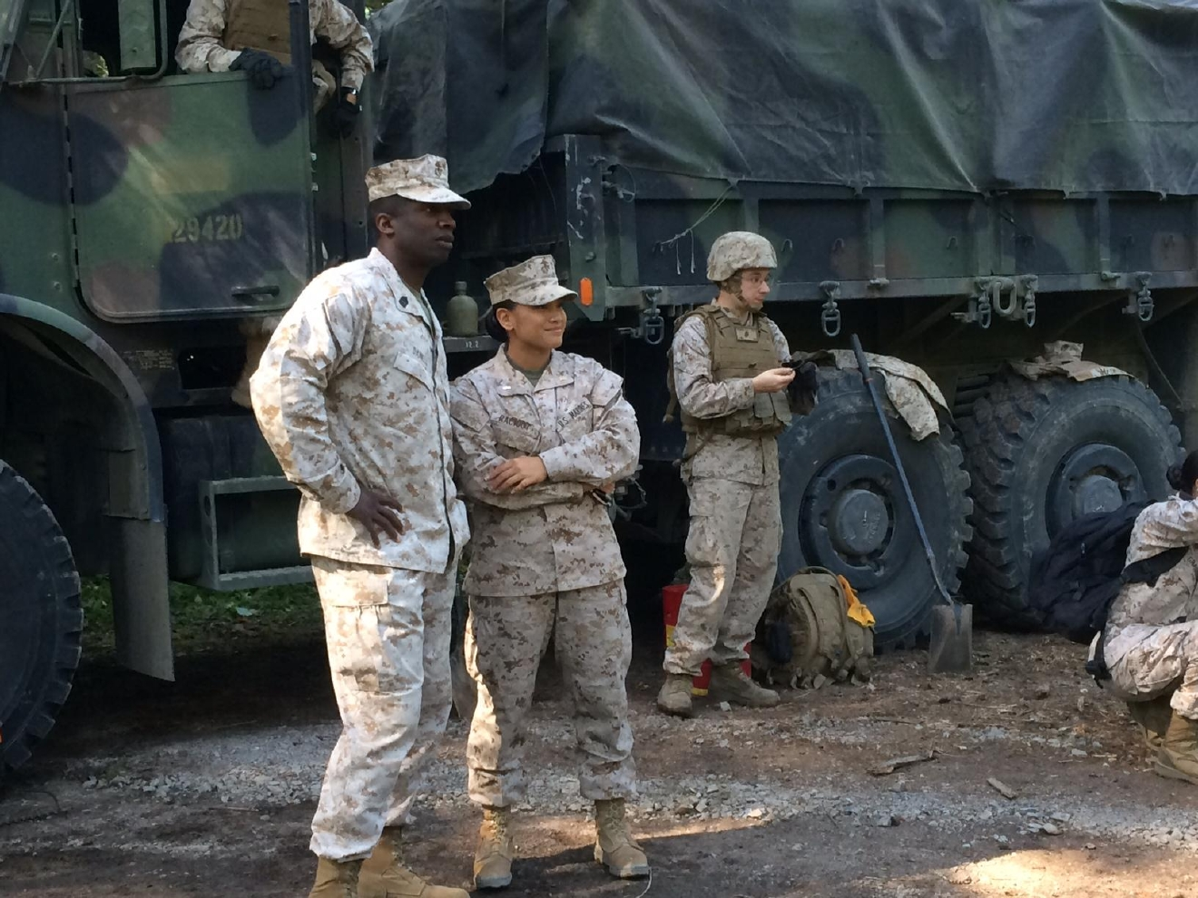 Marines from a combat engineering unit based in Springfield are in the woods near Westfir helping the Willamette National Forest this month. (SBG)