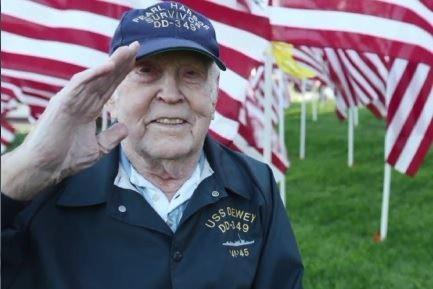 90-year-old Bud Cloud survived Pearl Harbor and had one just one request before he died: to see the Navy one last time with the ship that has the same name as the one he served on in Pearl Harbor.
