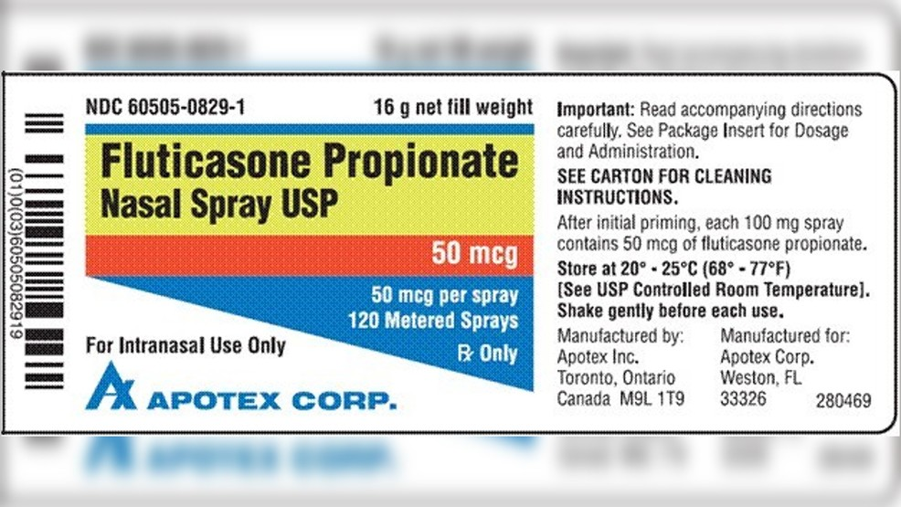 Recall Alert Nasal Sprays Could Contain Small Glass Particles Whp