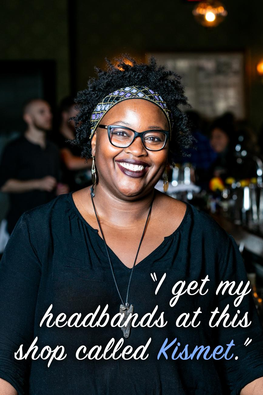 "CR: You love your headbands. Where do you get them? Do you have a favorite? / Li: ""I get my headbands at this shop called Kismet, with locations in both O'Bryonville and OTR! I started wearing them while working professionally in kitchens to show a pop of my personality beyond the standard uniform presence of a chef coat and cap. I don't have a favorite headband per se, but I love ones that have a fun burst of color with a unique, sleek design."" / Image: Amy Elisabeth Spasoff // Published: 2.26.19"