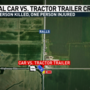 Fatal crash involving tractor trailer kills one, injures another