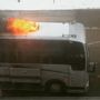 Tour bus catches fire outside Iowa Memorial Union ahead of Portugal. The Man concert