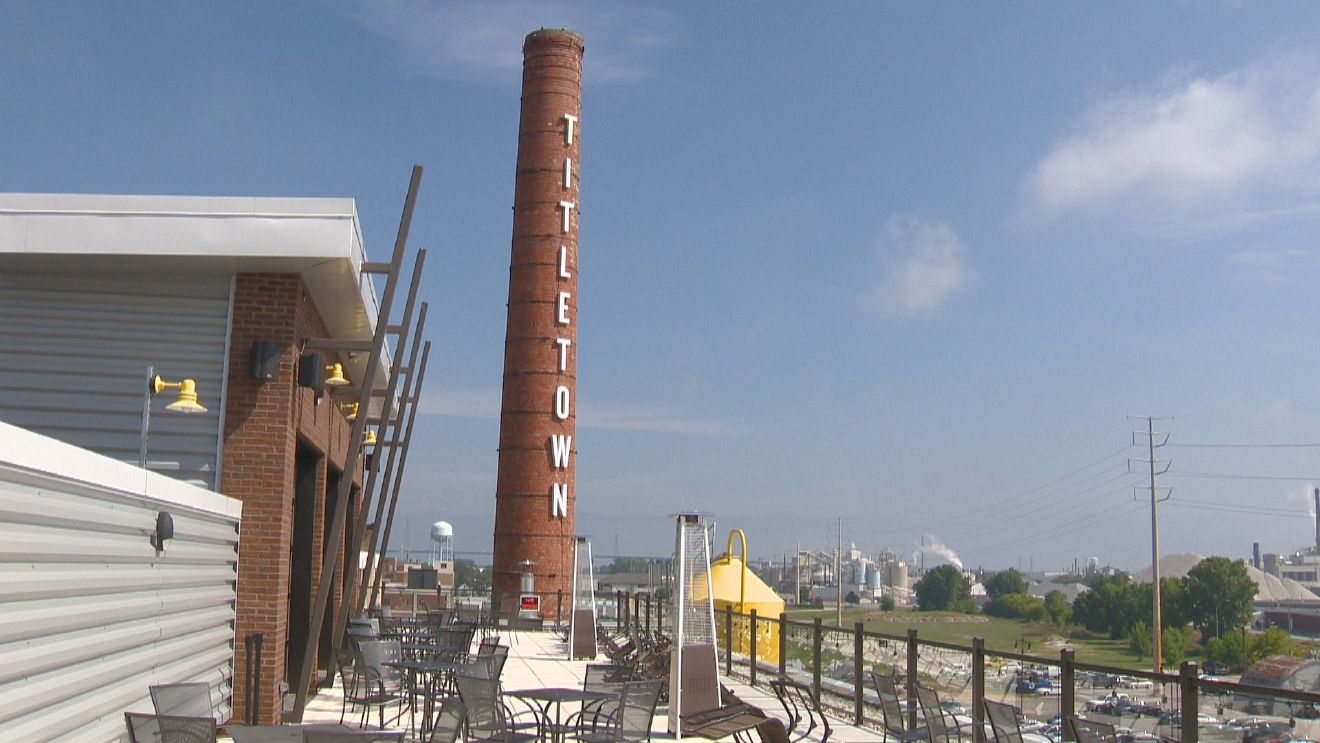 Area businesses,  like Titletown Brewing Company which is hosting Bucky's Block Party Friday gear up for LSU fan arrivals, August 30, 2016. (WLUK)