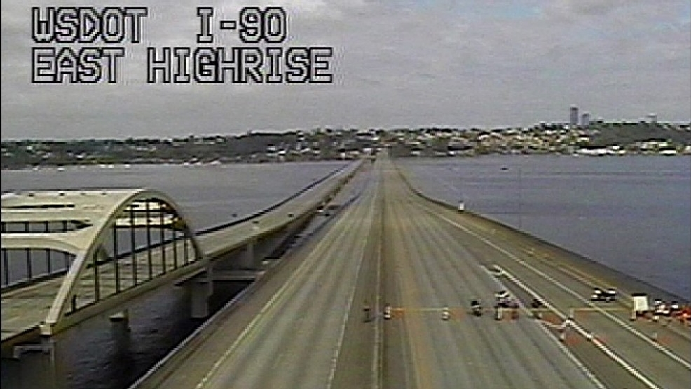 I-90 bridge express lanes empty (KOMO News)g.jpg