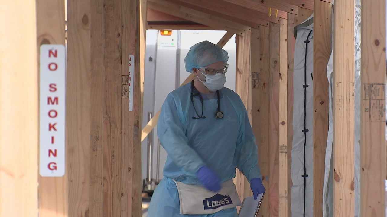 A Caldwell County couple is back home after a rough battle with COVID-19, and are thankful for their time at and care received from the staff at the Samaritan's Purse field hospital set up at the Caldwell UNC Health Care in Lenoir. (Photo courtesy of WSOC)