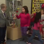 """Will you accept this rose?"" Murphy first grader hands out roses to girl classmates"
