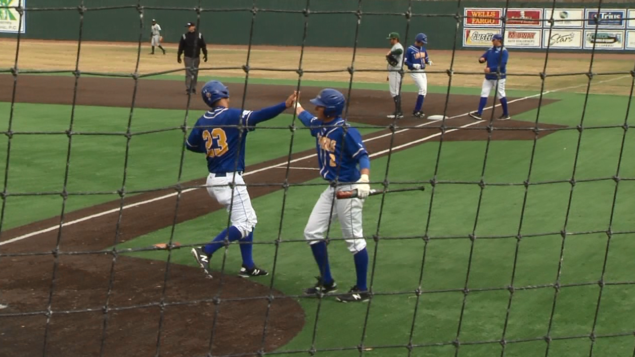Schramm crosses home plate scoring the Lopers 4th run in the bottom of the third.{&amp;nbsp;}<p></p>