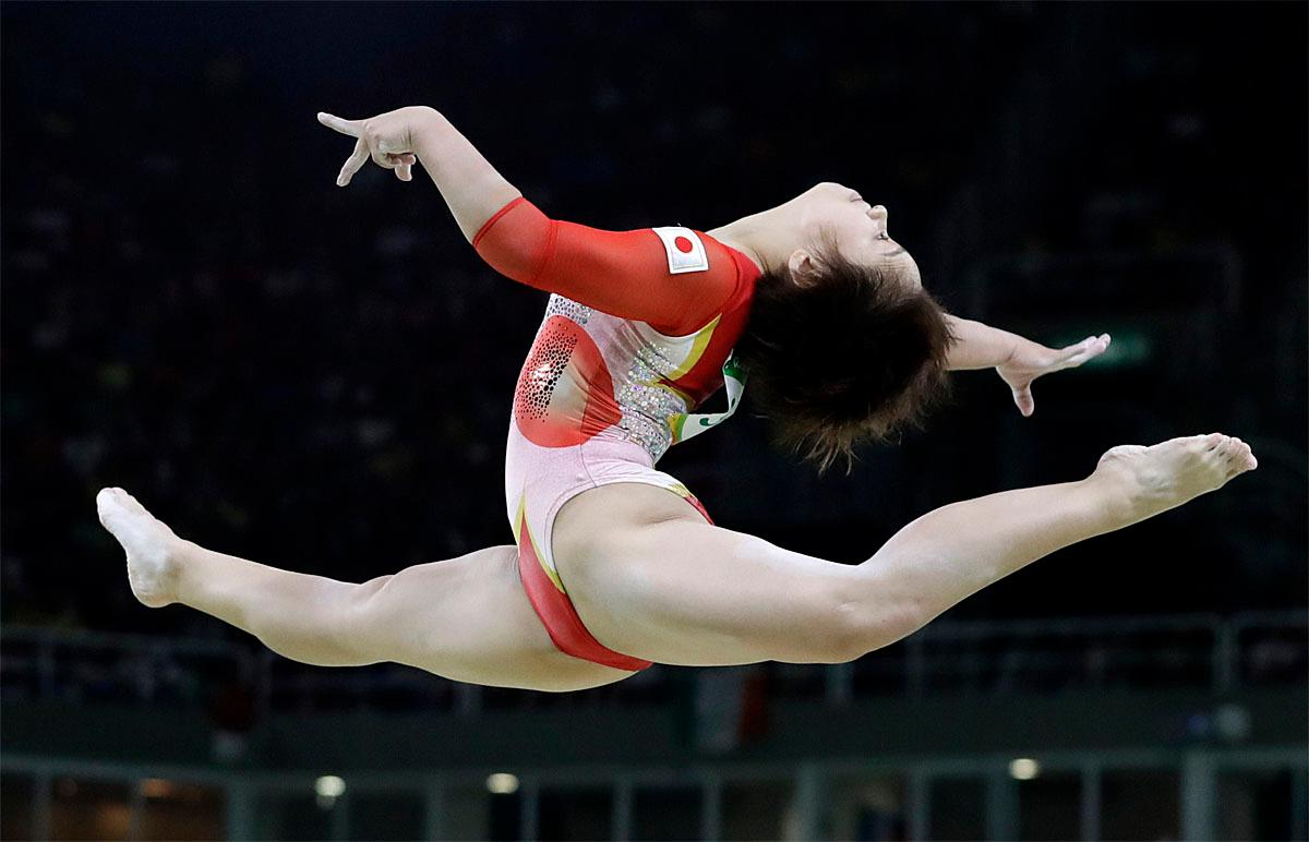mai murakami Japan's Mai Murakami performs on the balance beam during the artistic  gymnastics women's qualification at the