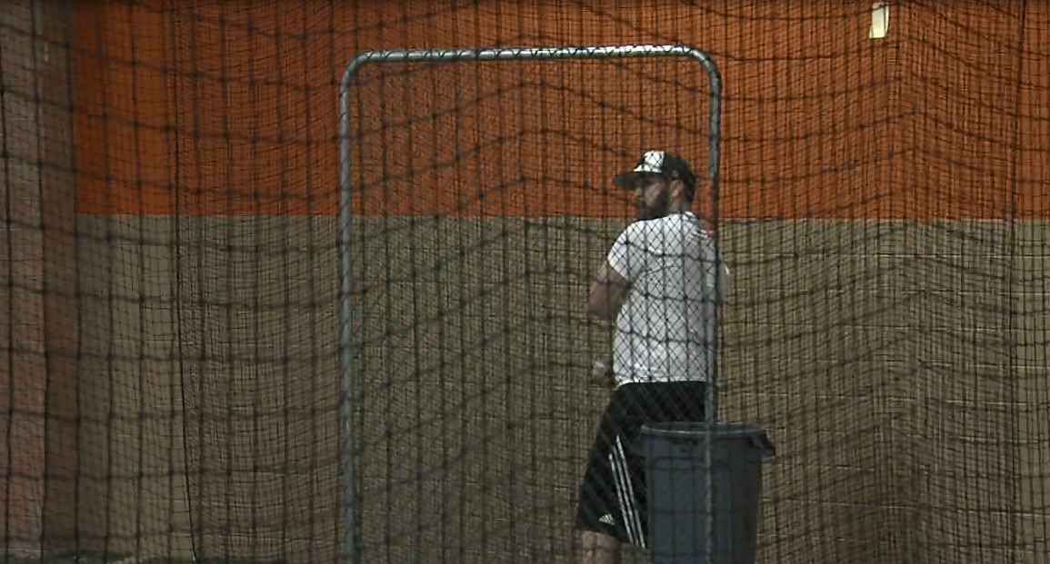 The Hastings Tigers practice baseball on March 14, 2017 (NTV News)