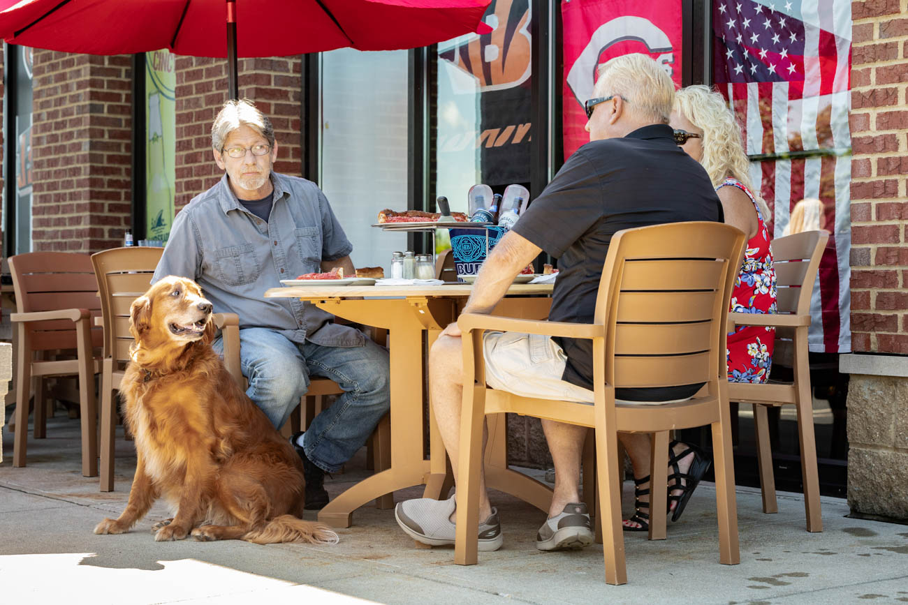 Outdoor seating is available in the warmer months. / Image courtesy of Bourbon House Pizza // Published: 1.9.20