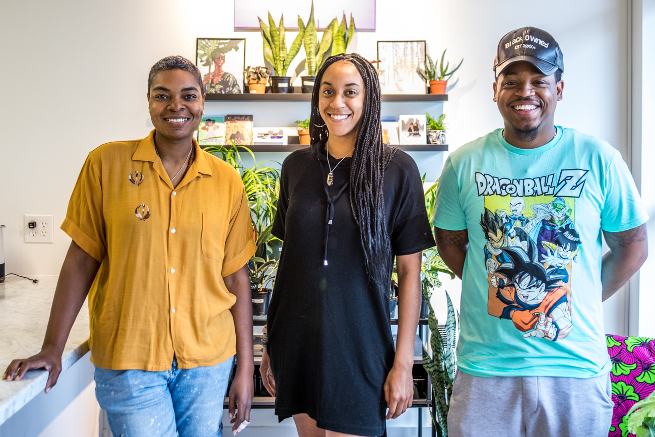 Erika Gray, Diamyn Rembert, and Mansa Harris, three of the four business owners at Pause / Image: Catherine Viox{ }// Published: 8.4.20