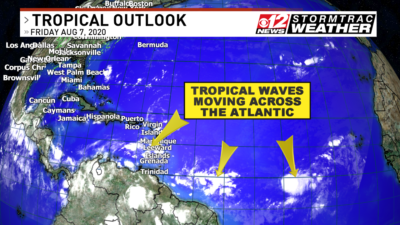 Watching tropical waves move across the Atlantic with no development expected. (WPEC)