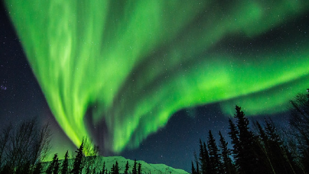 Brilliant Northern Lights display over Alaska