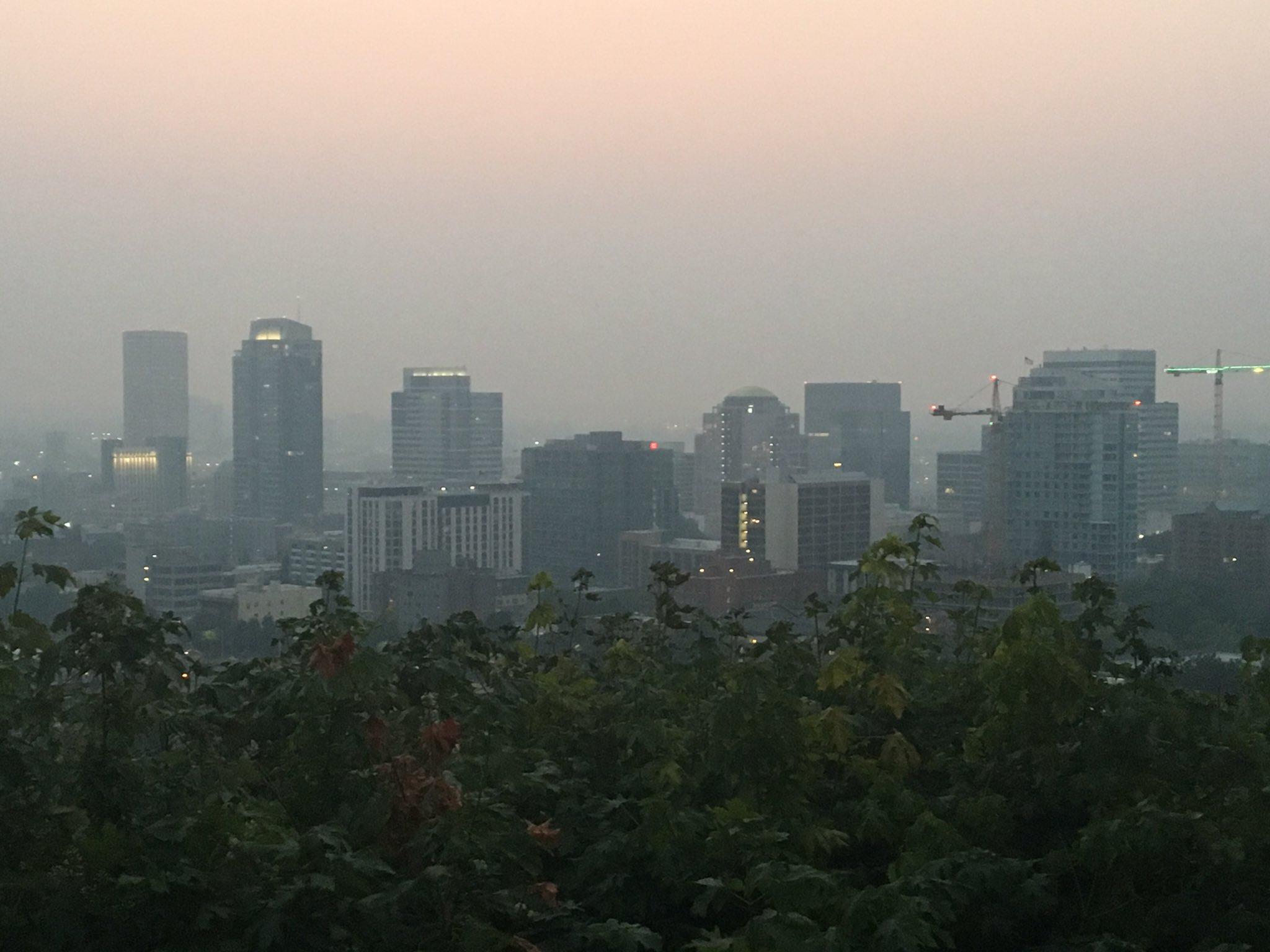"The air quality index measured ""unhealthy"" for the third day in a row on Friday, August 4, 2017. (SBG photo)"