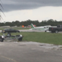 Plane makes belly landing at Lantana Airport