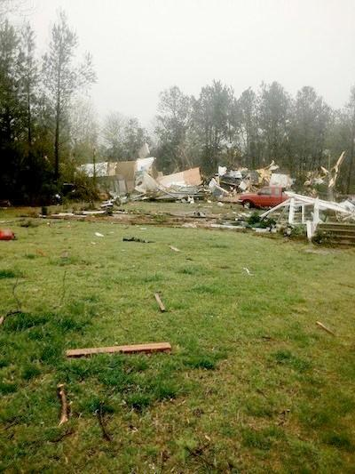 Storm damage in Addison, Ala. on Thursday, April 11, 2013.