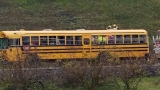 No kids injured in I-205 crash involving school bus, 3 others hospitalized