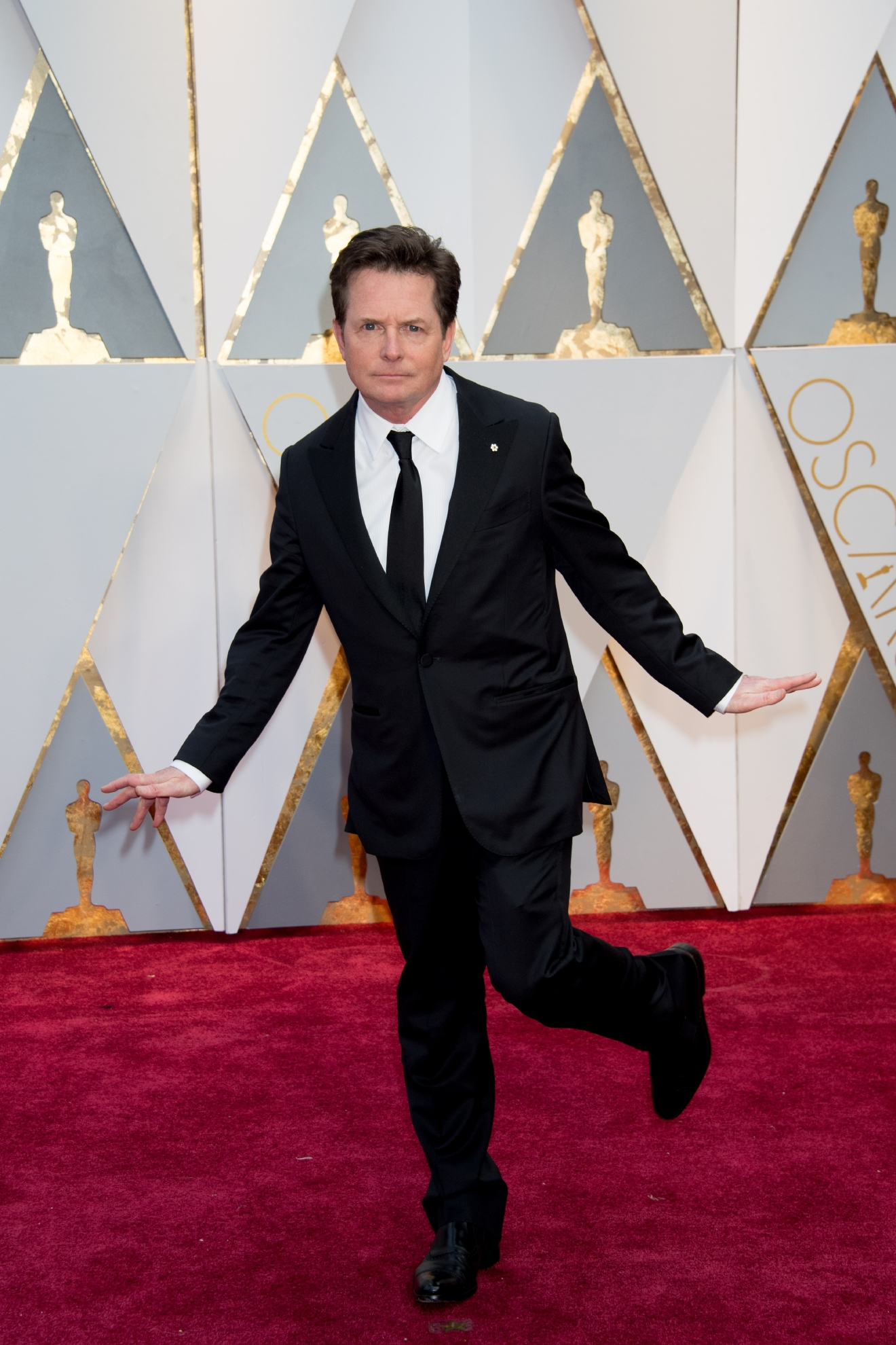 Michael J. Fox arrives at The 89th Oscars® at the Dolby® Theatre in Hollywood, CA on Sunday, February 26, 2017. (A.M.P.A.S.)